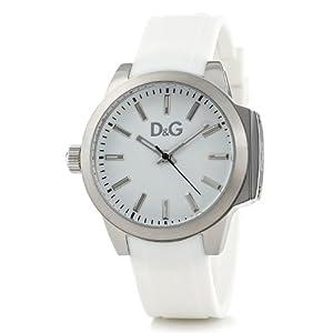 D&G Dolce&Gabbana DW0746 – Reloj analógico de mujer de cuarzo con correa blanca