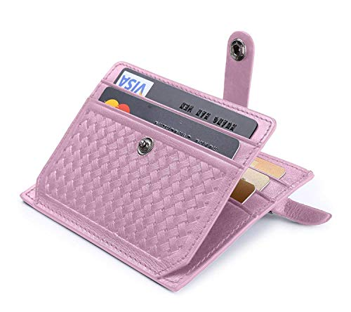 flintronic Porta Carte di Credito e Tasche Pelle RFID/NFC Blocco Portafoglio Bifold Magico ID Clip