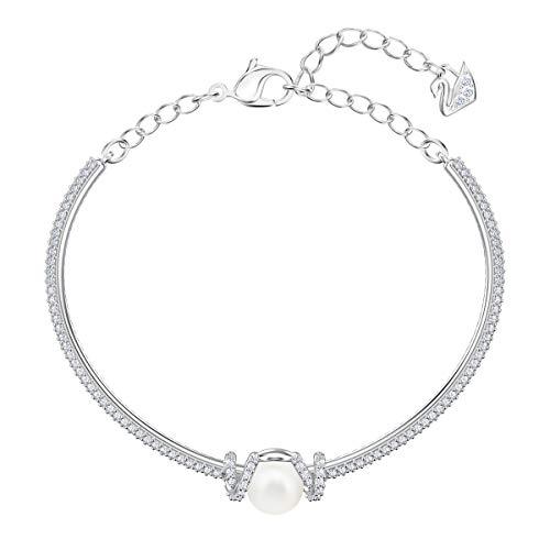 Imagen de swarovski brazalete originally, baño de rodio, cristal blanco, para mujer alternativa