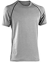 Engel Sports Men's Shirt Short Sleeved, GOTS Regular Fit Layer Organic