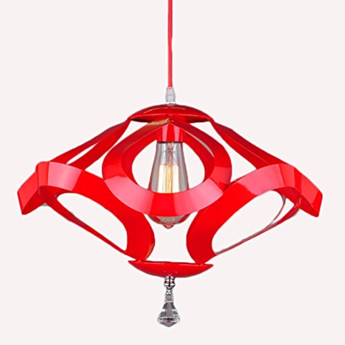 Il Ristorante Geometria Del Soffitto / Interni Decorativo Battuto Lampadario In Ferro , Red 420*H290Mm,red 420*h290mm
