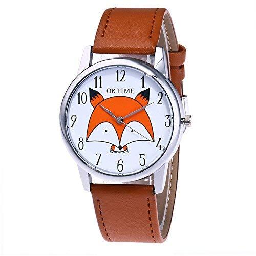 Producto nuevo. Visualización de la hora precisa con analógico Cierre de hebilla. Esfera: 1,45 pulgadas, correa: 23 x 1,75 pulgadas (ajustable). Muy a la moda, ideal para regalo. Paquete: 1 reloj de pulsera. Nota: cada impresión puede variar en color...
