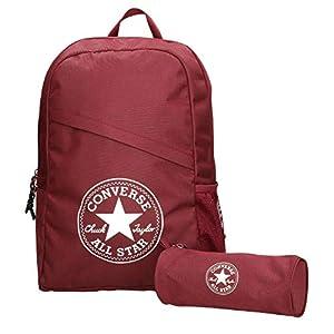 41SrZEO4p1L. SS300  - Converse Unisex mochila estuche Schoolpack XL set Burgundy