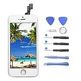 LCD Display für iPhone 5S / SE,LCD Touchscreen Für iPhone 5S / SE Bildschirm Komplettset mit Werkzeuge-Ersatz Bildschirm für iPhone 5S / SE (Weiß)