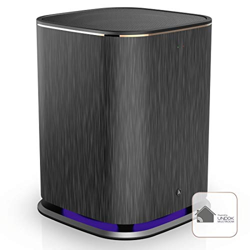 Hama Wireless Subwoofer Multiroom (kabellose Verbindung via UNDOK-App, Aktivsubwoofer zur Erweiterung von Soundsystemen und Radios) schwarz