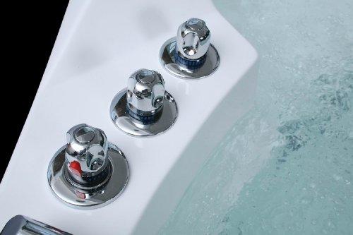 Luxus Whirlpool Badewanne 152x152 mit Vollausstattung (Massage) - 5