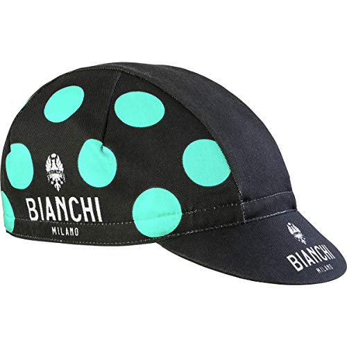 Bianchi Milano Herren Neon Radsport-Mütze, Celeste Polka, Einheitsgröße - Milano Cap