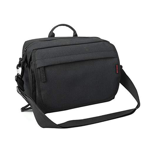 Bodyguard SLR Messenger Bag Kameratasche Spiegelreflex für DSLR Kameras und Zubehör, schwarz - gepolsterte Fototasche mit Schulterriemen und vielen Fächern für 2-3 Objektive und mehr