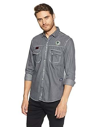 Indigo Nation Street Men's Casual Shirt (8907646236225_3S0356_40_Grey)