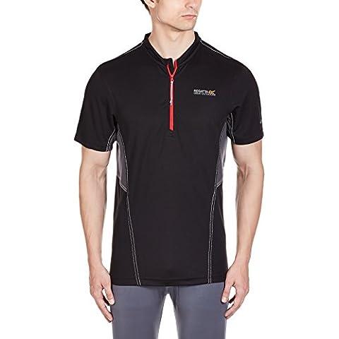 Regatta Break Bar - Camiseta para hombre, hombre, color negro - negro/gris, tamaño XXL