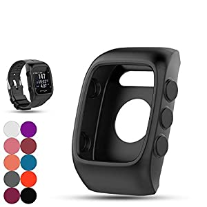 Saisiyiky Polar M400 / M430 Replacement Watch Band Protective Sleeve Cover, Protective Silicone Bag for Polar Unisex M400 / M430 GPS Watch (Black)