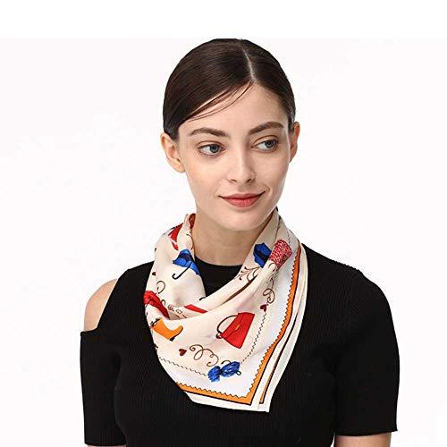 de, mit Schal aus Seide, Vintage-Stil, Elegante Taschentücher für Damen ()