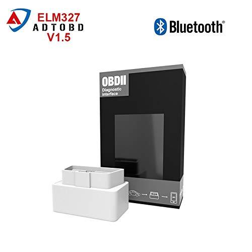 FIOLTY Mini ELM 327 V1.5 Zahn 2.0 OBD2 / OBDII CarTool ELM327 V 1.5-Code-Scanner BT 16pin Arbeit für Android Ader: China, V1.5