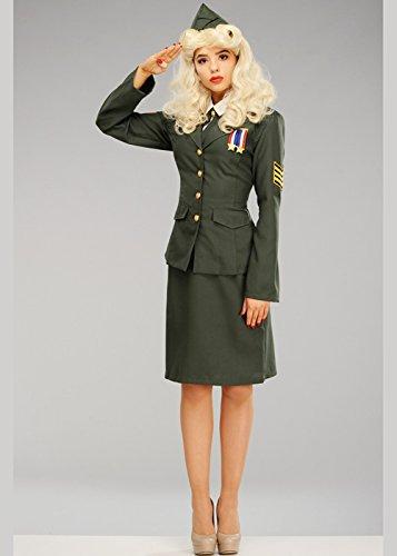 Magic Box Int. 1940er Jahre Kostüm während des Krieges Offizier Damen Small (UK 8-10) (1940er Jahre Kostüm)
