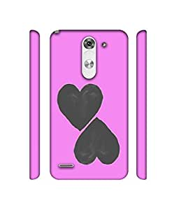 NattyCase Heart Pattern Design 3D Printed Hard Back Case Cover for LG G3 Stylus D690