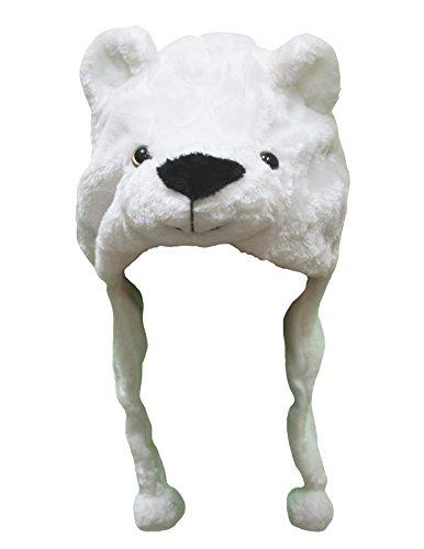 Petitebelle White Polar Bear Warm Hat Christmas Costume for Unisex Children (One Size)