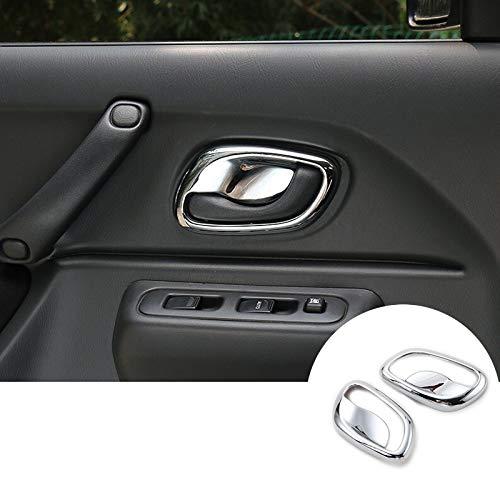 Ahomi Car c/ôt/é droit int/érieur Panneau de porte Poign/ée Pull Trim Coque pour E90/E91/S/érie 3