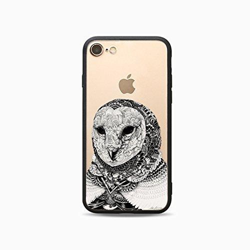 Coque iPhone 6 6s Housse étui-Case Transparent Liquid Crystal Les animaux en TPU Silicone Clair,Protection Ultra Mince Premium,Coque Prime pour iPhone 6 6s-Cheval-style 12 3