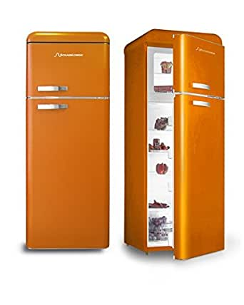 Retro Kühlschrank Orange Glanz A+ Kühl- Gefrierkombi Schaub Lorenz[Energieklasse A+]