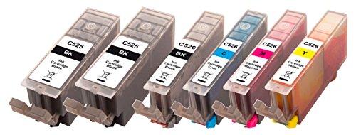 Peach Spar Pack Plus Tintenpatronen, XL-Ergiebigkeit, kompatibel zu Canon CLI-526,  PGI-525 -