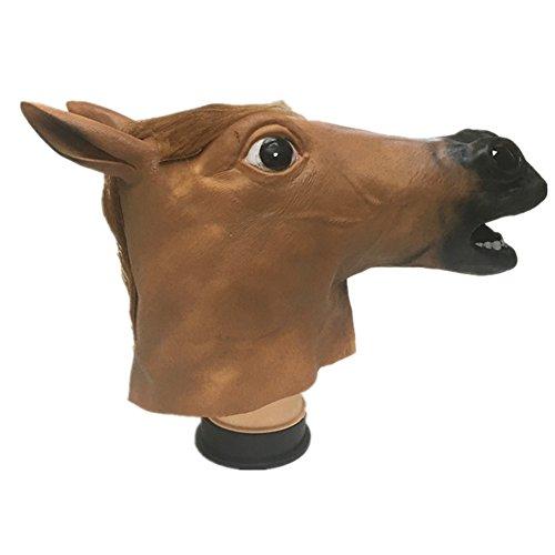 Halloween Maske Latex Pferdemaske Tiermaske Pferdekopf Pferd Kostüm (Gute Halloween Kostüme Für Plus Size)