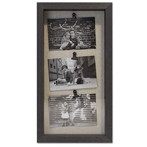 Lawrence Frames Soho Bilderrahmen für 3 Fotos à 15 x 10 cm, Schwarz