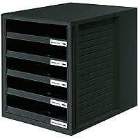HAN 1401-13 Module de rangement 5 tiroirs ouverts pour C4, 275 x 320 x 330 mm (Noir) (Import Allemagne)