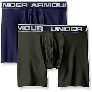 Under Armour hombres o de la serie 6«Boxers (2unidades), Midnight Navy/ Artillery Green