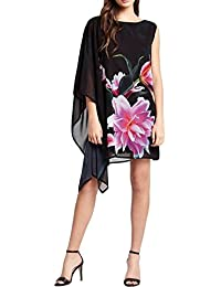 New Lipsy Floral printed Drape Shift dress - Uk size 8