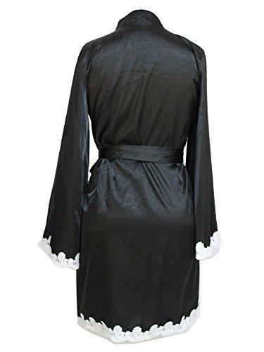 Cheerlife Damen Morgenmantel Kimono Robe Bademantel Nachtwäsche ...