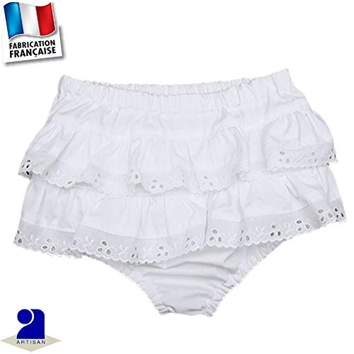 c96251c8a9668 Poussin Bleu - Bloomer baptême 0 mois-4 ans Made in France Taille - 54