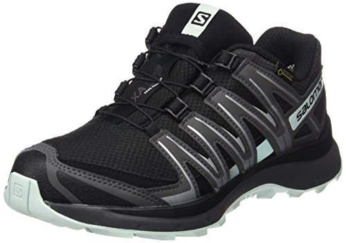 Salomon XA Lite GTX Scarpe da Trail Running Impermeabili Donna, Nero (Black/Magnet/Fair Aqua),  382/3  EU (5.5 UK)