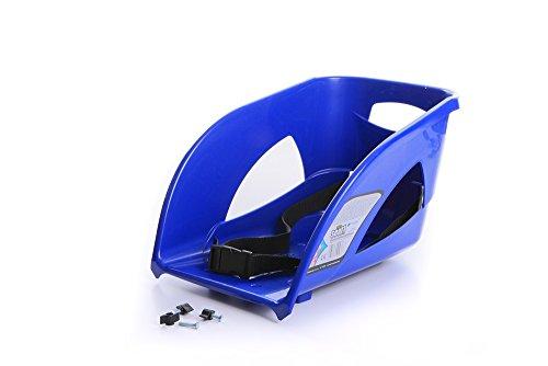 Kindersitz Sitz Lehne für Schlitten Kinderschlitten Rodel aus Kunststoff (Blau)