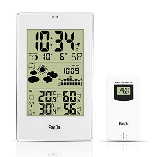 XMAGG® Wetterstation mit Außensensor Funk Innen- und Außentemperatur und Feuchtigkeit für Innen und außen, Digital Thermometer-Hygrometer für Innen und außen