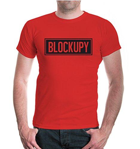 buXsbaum® T-Shirt Blockupy Red-Black