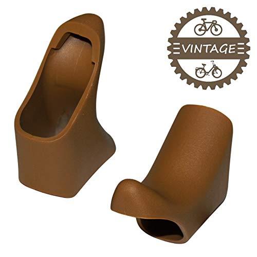 cyclingcolors Braun GRIFFGUMMIS BREMSHEBEL Vintage Shimano Brake Lever Hood Fahrrad Rennrad