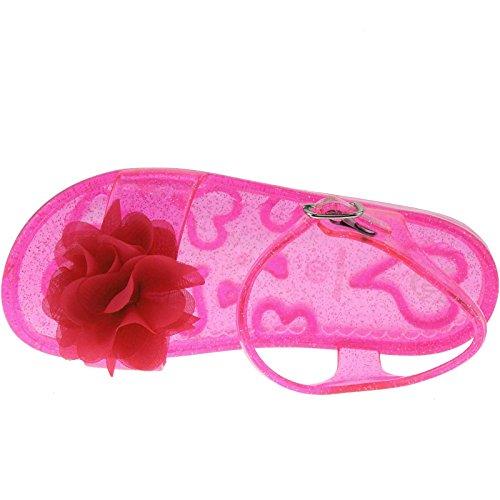 Lelli Kelly , Sandales pour fille rose rose Fuchsia/Rasp Transparent
