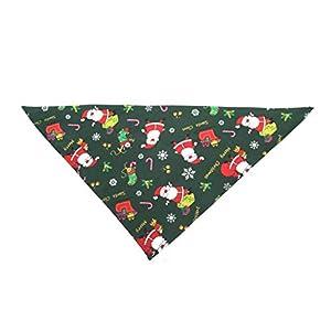 Pgige Bandana Chien Collier de Noël Foulard Bib Grooming Accessoires Colliers de Bandage Triangulaire Cadeau pour Animal de Compagnie