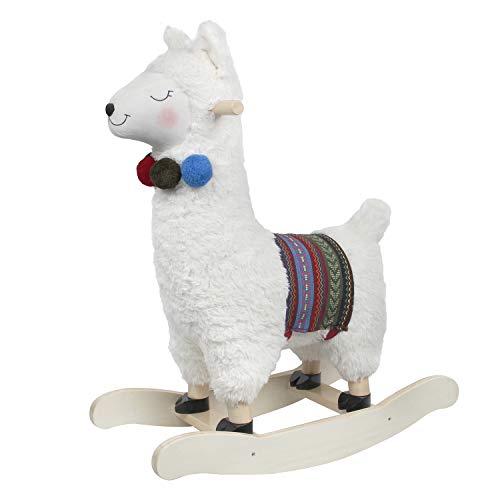 Labebe alpaca peluche a dondolo, cavallo a dondolo in legno per bambini 1,2,3 anni, regalo per bambini