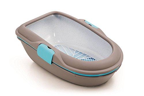 Katzentoilette, Schalentoilette 'Furba' mit zweifachem Schalensystem, Siebeinsatz und in tollem...