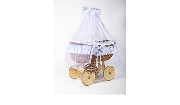 Bollerwagen stubenwagen babykorb ophelia antique blue von mjmark