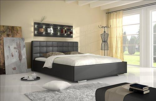 mb-moebel Polsterbett Kunstleder Bett mit und ohne Bettkasten Doppelbett 160 x 200 cm LAGOS