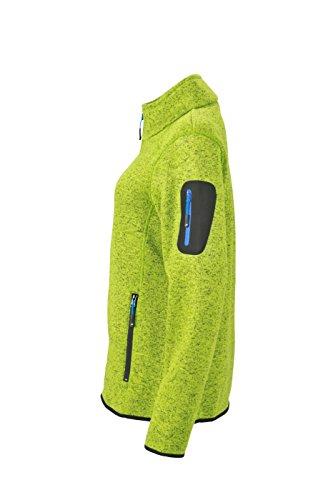 James & Nicholson Damen Jacke Jacke Knitted Fleece Jacket grün (Kiwi-Melange/Royal) Small - 3