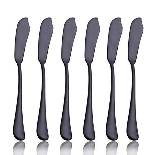 20Besteck Besteck Set Service für 4Edelstahl Besteck Geschirr u.a. Messer Gabel Löffel Spülmaschinenfest Black1 6 pcs Butter Knife Black1 6 pcs Butter Knife