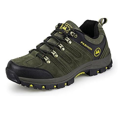 ailishabroy Chaussures de randonnée pour hommes Hommes Imperméables Chaussures de randonnée légère (44 EU, Vert)