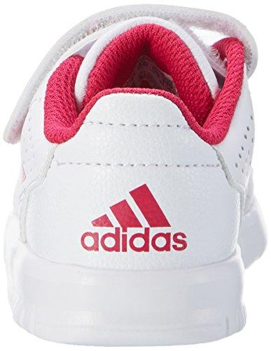 adidas Unisex-Kinder Altasport Cf Sneaker Weiß (Ftwr White/Bold Pink/Ftwr White)