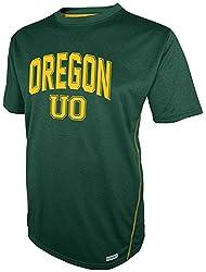 NCAA Oregon Ducks Short Sleeve Crew Neck Tee, Green, Medium