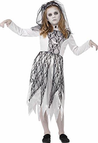Geisterbraut Kostüm für Kinder Gr. S (4-6 (Zerfetzte Kleid Kostüm)