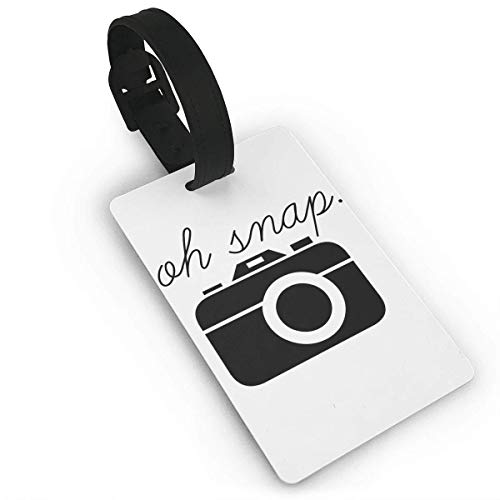 Retro-oh Snap (Ewtretr Gepäckanhänger for Travel Luggage Tags with Genuine Hand Strap Oh Snap Camera Travel Suitcase Bag Tag Identify Label)
