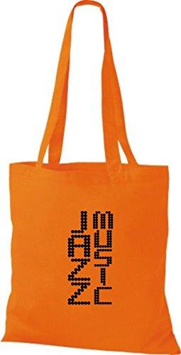 ShirtInStyle Stoffbeutel Musik Beutel Jazz Music Baumwolltasche Beutel, diverse Farbe orange